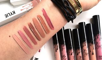 Swatches of all the Kylie Cosmetics lip glosses