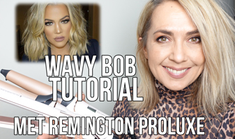 Wavy (long) bob tutorial met Remington PROluxe & Colinda