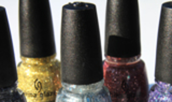 China Glaze Eye Candy, glitter all over, swatches & foto's