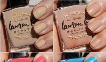 Lauren B. Nail Couture Nude no. 2, Nude no. 3, Sunset BLVD & Malibu Beach swatches