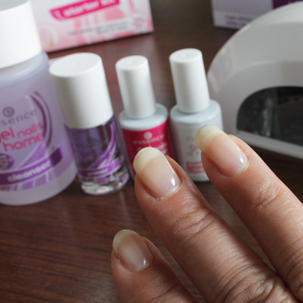 Essence gel nails french manicure