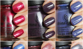 China Glaze Autumn night herfst 2013 nagellakken - swatches