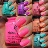 China Glaze Sunsational collectie - swatches en review