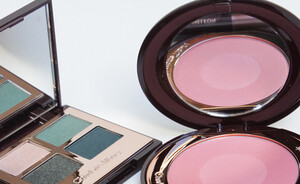 Charlotte Tilbury The rebel palette & Love glow blush - review, swatches en look